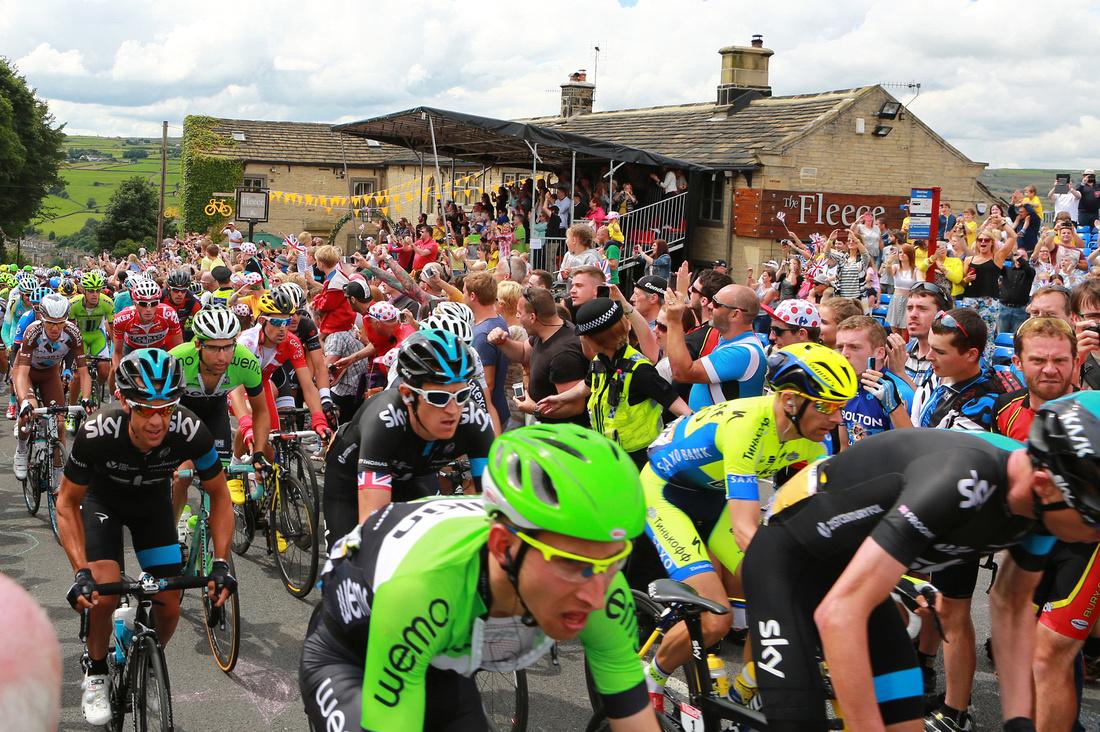 Team Sky, Tour de Yorkshire, The Fleece, Ripponden, 2014