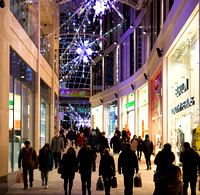 Christmas shopping in Leeds