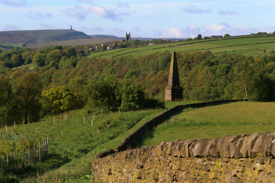 View over Heptonstall and Stoodley Pike