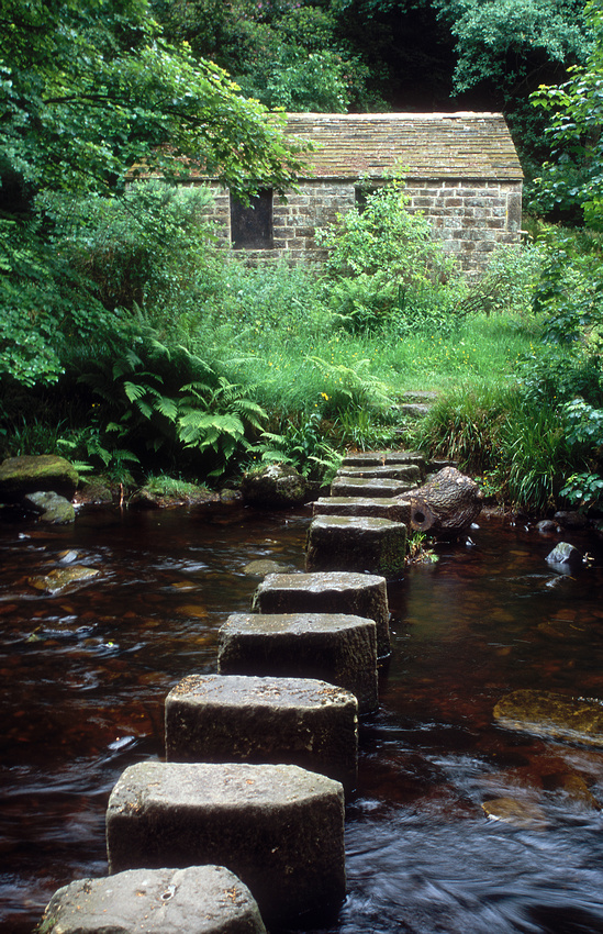 Stepping stones, Hardcastle Crags