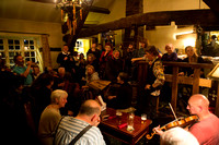 Traditional music, at the Old Bridge, Ripponden